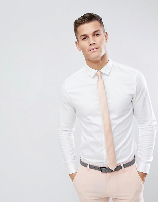 Slim sateen shirt